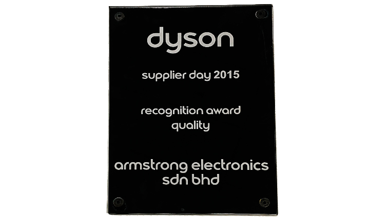 Dyson Supplier Day Quality Recognition Award 2015